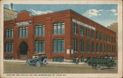 Factory and Office, 21st and Morgan Sts. Postcard
