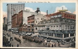 Grand Ave. 11th St Postcard