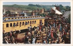 "A Santa Fe Train of the 1890s - Scene from ""The Harvey Girls"" Postcard"