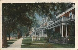 Sturges Avenue from First Street Postcard