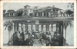 Hotel and Dining Room, Carlsbad Hotel Postcard