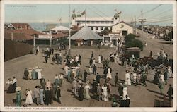 Amusement Plaza, Coronado Tent City Postcard
