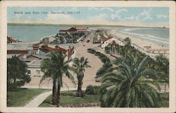 Beach and Tent City Postcard