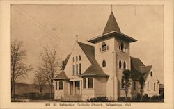 St. Sebastian Catholic Church Postcard