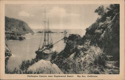 Partington Canyon Near Ripplewood Resort Postcard