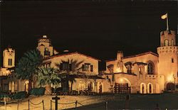 Scotty's Castle at Night Postcard