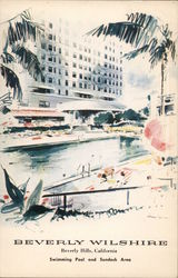 Swimming Pool and Sundeck Area, Beverly Wilshire Hotel