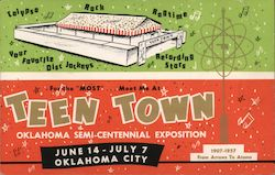 Teentown USA Oklahoma Semi-Centennial Exposition 1907-1957 Postcard