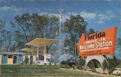 Florida Drive-In Welcome Station Postcard