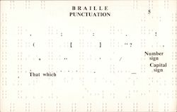 Braille Punctuation Postcard
