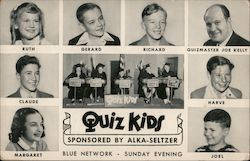 Quiz Kids Sponsored by Alka-Seltzer, Blue Network, Every Sunday Evening Postcard