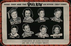 Here They are the Quiz Kids Blue Network Sunday Evening Postcard