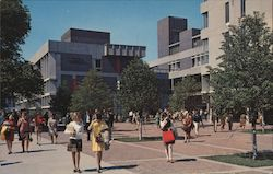 Mugar Plaza and George Sherman Student Union, Boston University Postcard