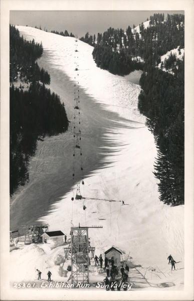 Ski Lift - Exhibition Run Sun Valley Idaho