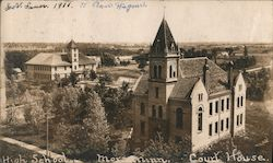 High School and Court House Postcard