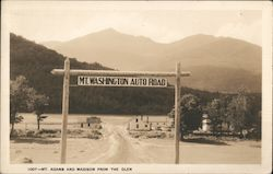 Mt. Washington Auto Road - Mt. Adams and Madison from the Glen Postcard
