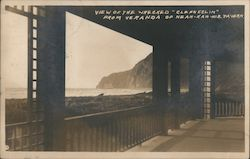 "View of the Wrecked ""Glenesslin"" from Veranda of Neah-Kah-Nie Tavern"