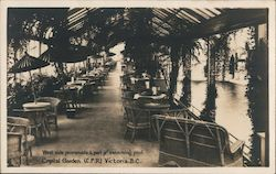 West Side Promenade and Part of Swimming Pool, Crystal Garden (C.P.R.), Victoria, BC