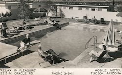 Mobile Motel Postcard