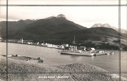 Ship in Dutch Harbor, Aleutian Islands Postcard
