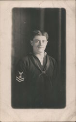 Man in US Naval Uniform - Petty Officer Second Class Postcard
