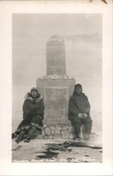 Alaska Natives Pose at the Rogers-Post Memorial Postcard