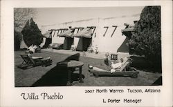 Villa Pueblo L Porter, Manager 2700 North Warren Postcard