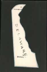 Delaware State Postcard, Hand Drawn