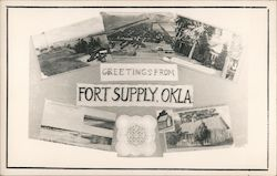 Greetings From Fort Supply, Oklahoma Postcard