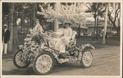 Flower Car Parade Float Postcard