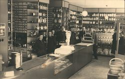 Men and Women in General Store, Housewares, Scale Postcard