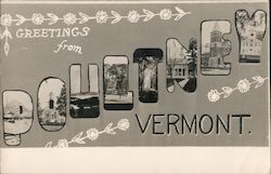 Greetings from Poultney, Vermont Postcard