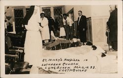 St. Mary's Hospital in Lutheran Church, Mar 10 '33 Earthquake Postcard