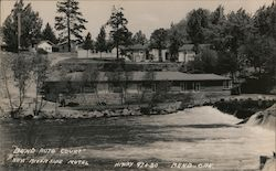 Bend Auto Court - New River Side Motel, Hiway 97 & 20 Postcard