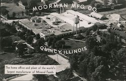 Moorman Mfg Co, The home office and plant of the world's largest manufacturer of Mineral Feeds Postcard