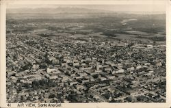 Air View of Santa Ana, California Postcard