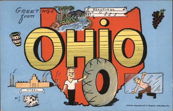 Greetings from OHiO - Tires, Pottery, Glass, Wine, Steel, Pigs