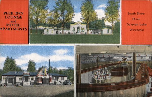 Peek Inn Lounge and Motel Apartments Delavan Lake Wisconsin