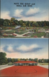 Putt Tee Golf and Roll Air Rink Postcard