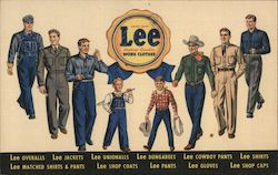 Lovell's Lee Jeans, Work Clothes Postcard