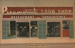 Paramount Soda Shop - Restaurant...Sandwiches Postcard