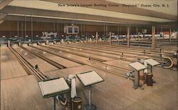 Playland - New Jersey's Largest Bowling Center Postcard