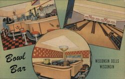 Bowl Bar - World's Largest Champagne Class - Wisconsin Dells, Wisconsin Postcard
