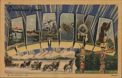 Greetings from Alaska Postcard