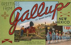 Greeting from Gallup, the Indian Capital Postcard