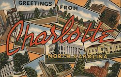 Greeting from Charlotte, North Carolina Postcard