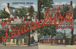 Greetings from Fredericksburg, Virginia Postcard