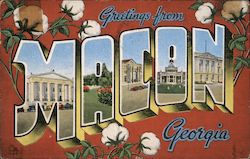 Greetings from Macon Georgia Postcard