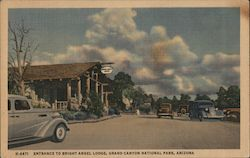 Entrance to Bright Angel Lodge, Grand Canyon National Park Postcard