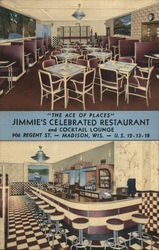 Jimmie's Celebrated Restaurant Postcard